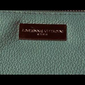 Adrienne Vittadini Bags - ADRIENNE VITTADINI ZIP LEATHER WALLET 15 cc slots